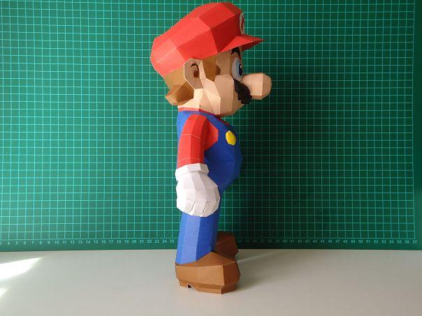 super mario bros papercraft model design 2
