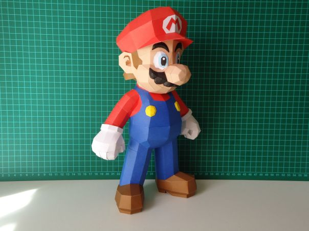 super mario bros papercraft model design 3