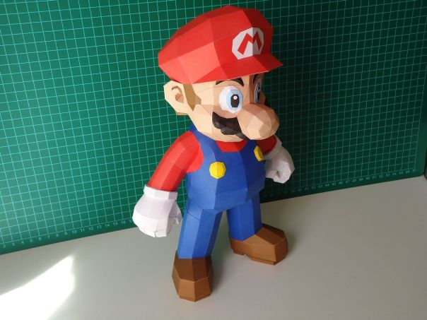super mario bros papercraft model design