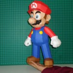 super mario bros papercraft model design 5