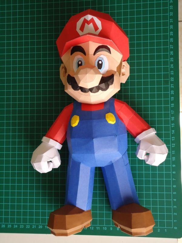 super mario bros papercraft model design 6