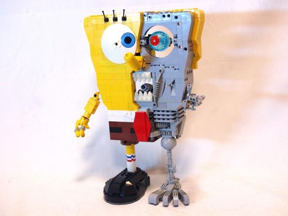 terminator spongebob lego