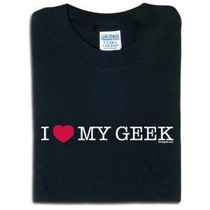 valentine's day gift ideas geek shirt I love my geek men