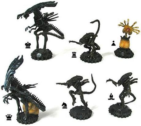 Alien Chess Pieces
