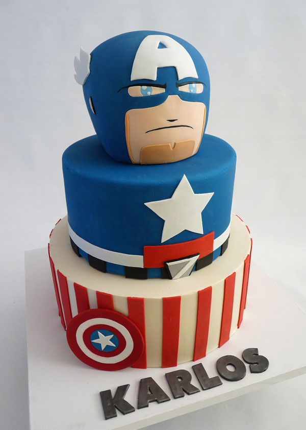 Captain America Mighty Muggs Cake