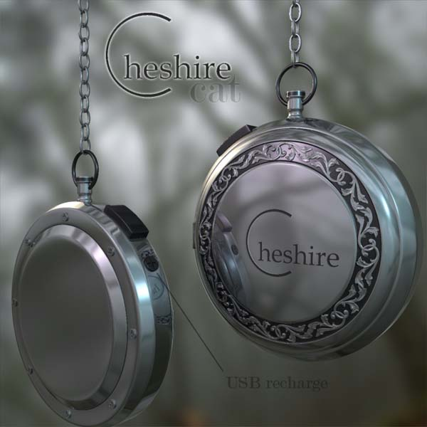 Cheshire Cat Pocketwatch Front Back