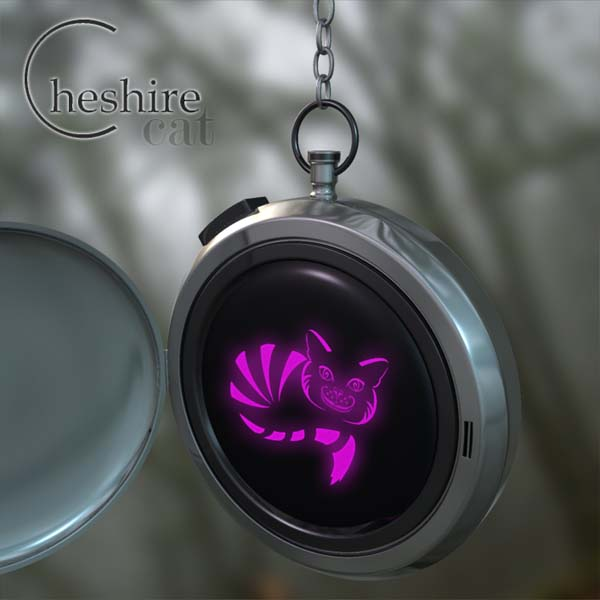 Cheshire Cat Pocketwatch Purple