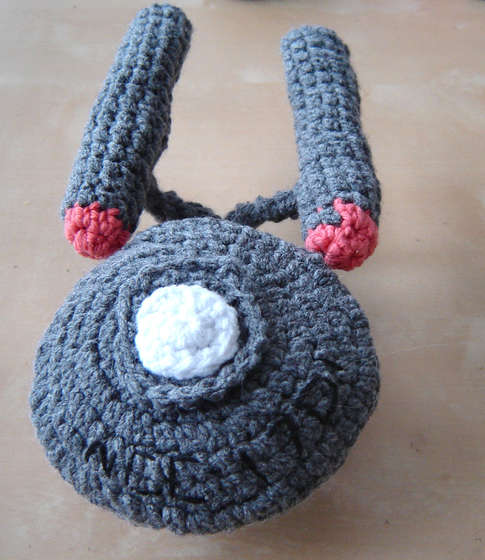Crocheted Starship Enterprise 4