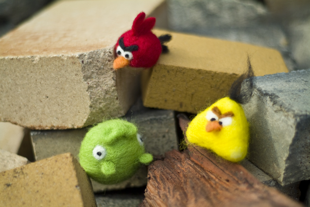 Felted Angry Birds 1