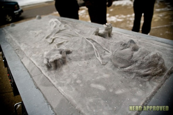 Han Solo Carbonite Ice Sculpture 1