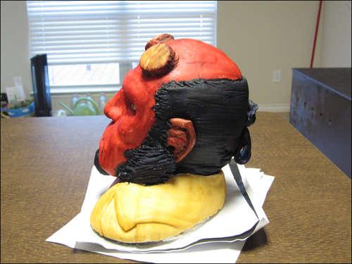 Hellboy Cake Head Side