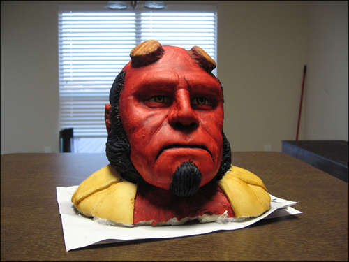 Hellboy Cake Head