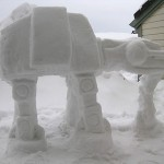 Imperial AT-AT Snow Sculpture Detail