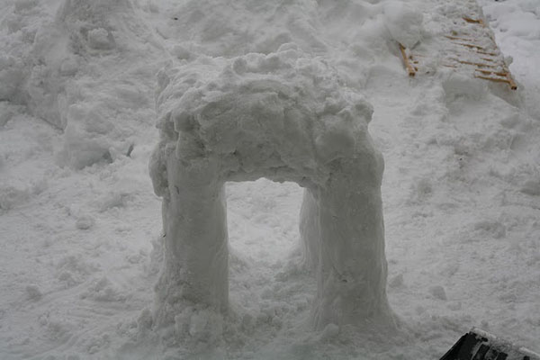 Imperial AT-AT Snow Sculpture Legs