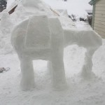 Imperial AT-AT Snow Sculpture Progress
