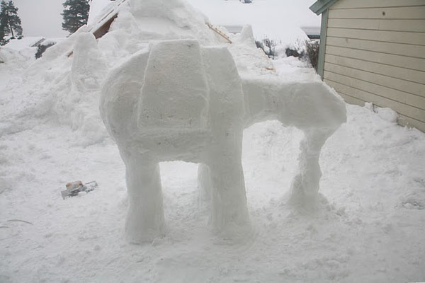 Imperial AT-AT Snow Sculpture