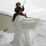 Imperial AT-AT Snow Sculpture Riding