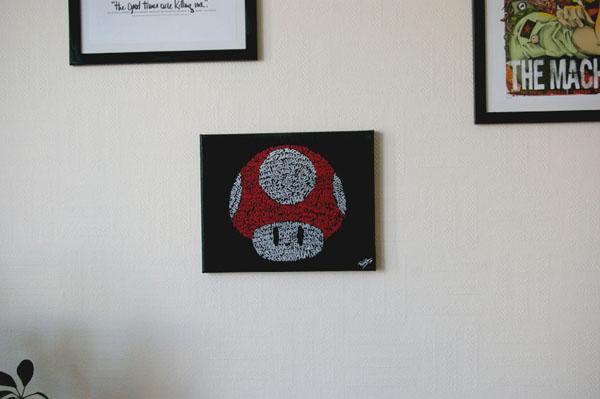 Mario Mushroom Typography Art