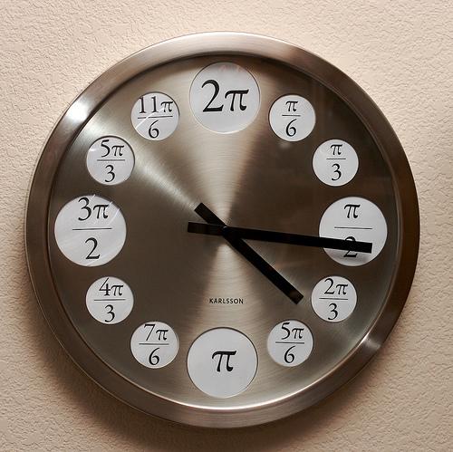 Pi Clock with Radian Measurements