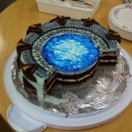 Star Gate Cake Cut