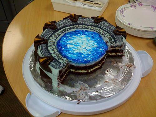 Star Gate Cake Cut
