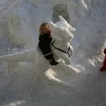 Star Wars Tauntaun Snow Sculpture 2