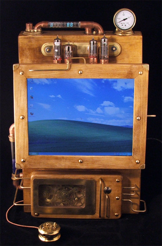 Steampunk Laptop Windows XP