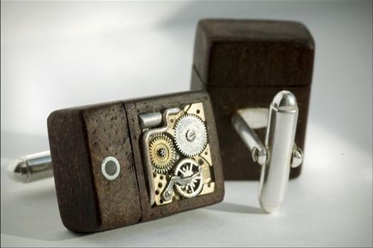 Steampunk USB Cufflinks