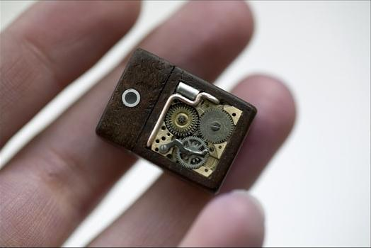Steampunk USB Cufflinks