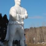 Tall Batman Snow Sculpture