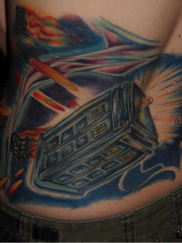 TARDIS Tattoo 4