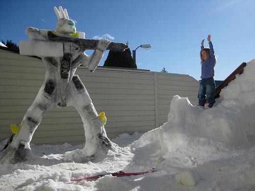 Valkyrie Snow Sculpture 2