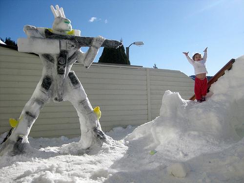 Valkyrie Snow Sculpture
