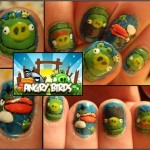 angry birds nails design
