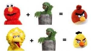 angry birds seasame street math