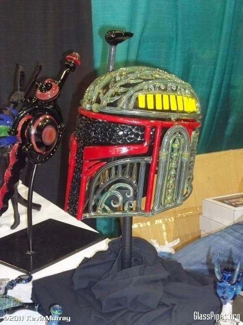boba fett helmet glass pipe design