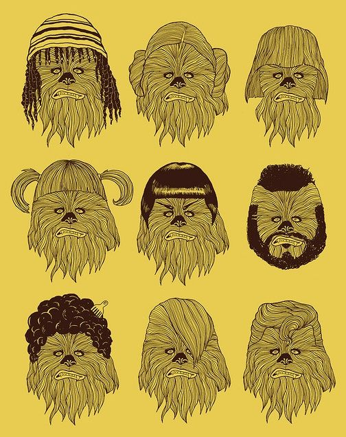 chewbacca hair wars