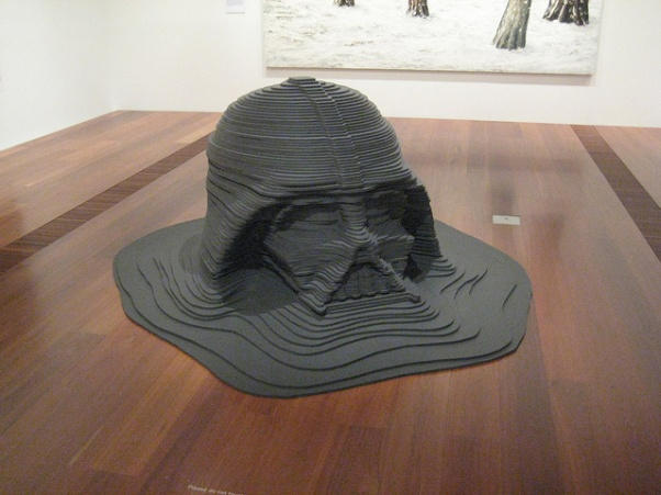 darth vader sculpture sunken