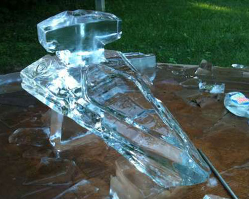 Finished Star Destroyer Ice Luge