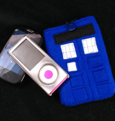 Tardis-themed iPhone Case