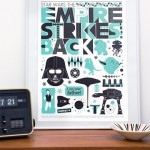 The Empire Strikes Back Scandinavian Poster