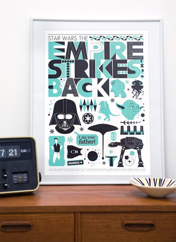 The Empire Strikes Back Scandinavian Poster