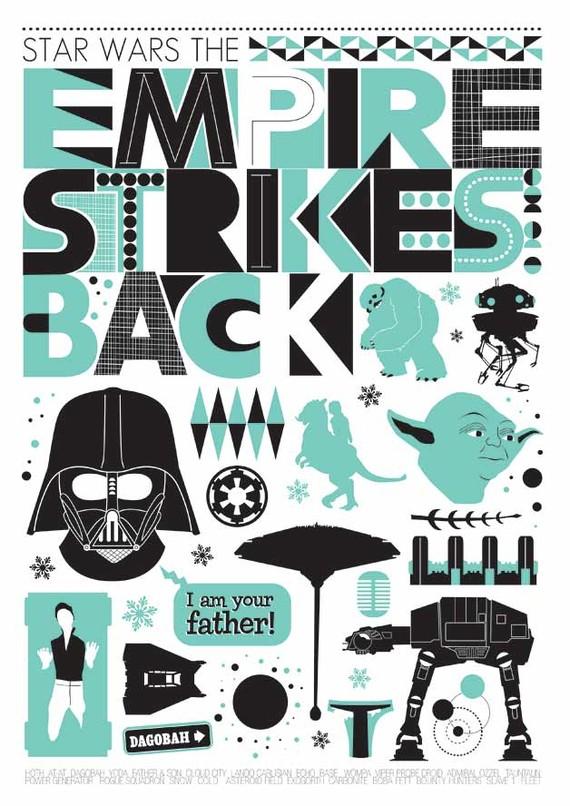 Star Wars Scandinavian Poster