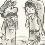 link meets mario