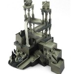 mc escher waterfall illusion sculpture toy