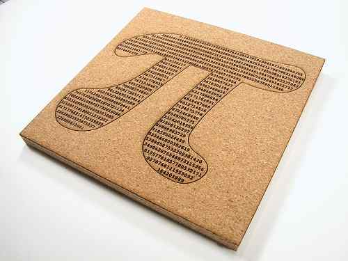 pi cork trivet pi day