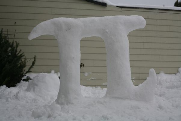 pi snow sculpture pi day