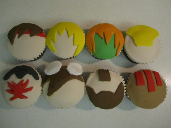 street fighter cupcakes