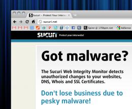 sucuri malware protection service