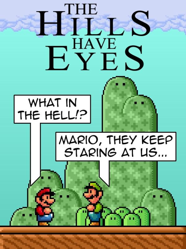 super mario bros hills have eyes